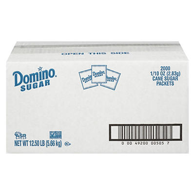 Domino Sugar Packets, 2,000 ct.