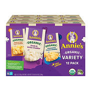 Annie's Homegrown Organic Macaroni and Cheese Variety Pack, 12 ct./6 oz.