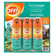 OFF! Smooth and Dry Insect Repellent, 3 pk./6 oz.