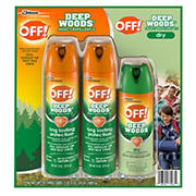 OFF! Deep Woods and Deep Woods Dry Mosquito Insect Repellent Combo Pack
