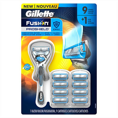 Gillette Fusion ProShield Chill FlexBall Men's Razor with 9 Razor Blad