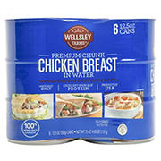 Wellsley Farms Premium Chunk Chicken Breast in Water, 6 ct./12.5 oz.