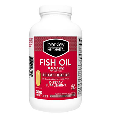 Berkley Jensen 1,000mg Fish Oil Softgels, 300 ct.