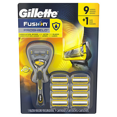 Gillette Fusion ProShield Men's FlexBall Razor with 9 Razor Blade Refi