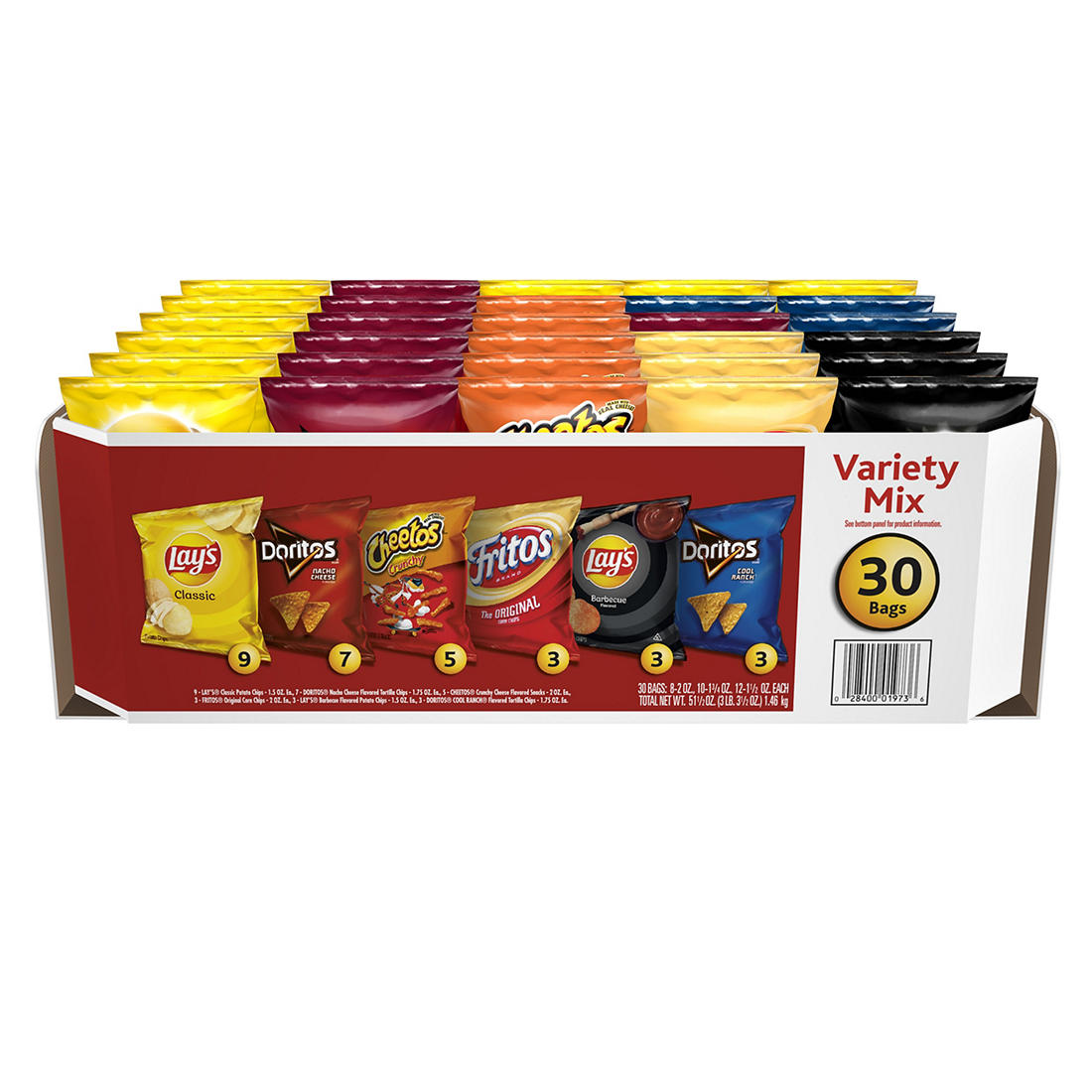 Frito-Lay Big Grab Variety Pack, 30 pk /1 75 oz