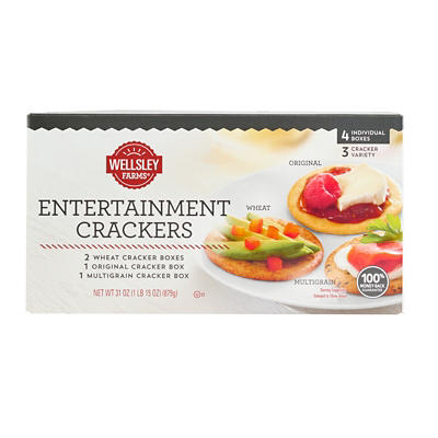 Wellsley Farms Entertainment Crackers, 4 pk./31 oz.