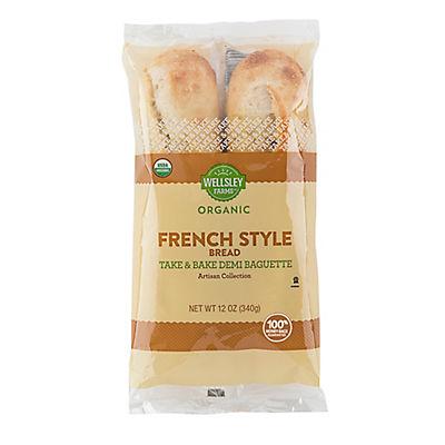 Wellsley Farms Organic French Demi Baguette, 2 ct.