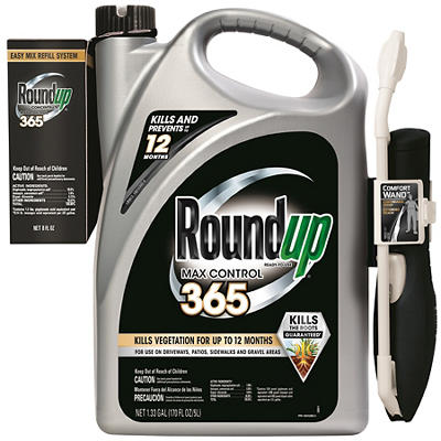 Roundup Max 365 Weed Killer, 1.33 gal. with Bonus Concentrate Refill,