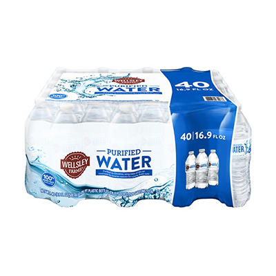 Wellsley Farms Purified Water, 40 pk./16.9 oz.