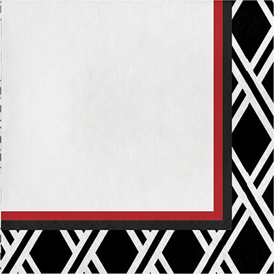 "Artstyle 13"" Dinner Napkins, 120 ct. - Black/Red"