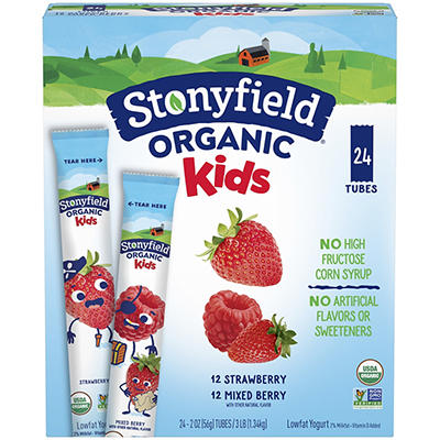 Stonyfield Organic YoKids Squeezers, 24 ct./2 oz.