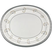"""Artstyle 10"""" x 12"""" Dinner Platters, 35 ct. - Silver/White"""
