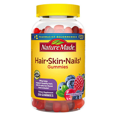 Nature Made Hair, Skin and Nails Gummy Supplement, 250 ct.