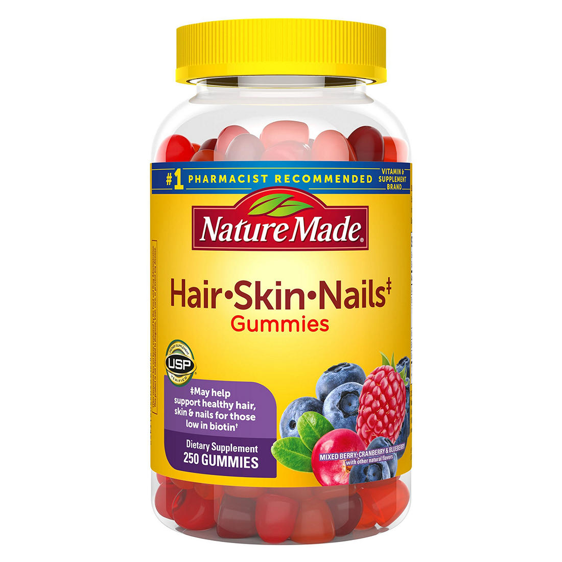 Nature Made Hair Skin And Nails Gummy Supplement 250 Ct