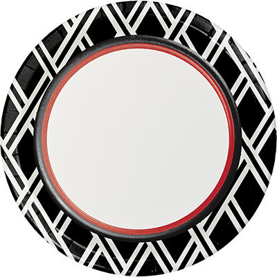 """Artstyle 10"""" Dinner Plates, 40 ct. - Black/Red"""