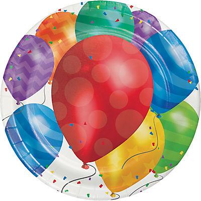 "Artstyle 10"" Dinner Plates, 40 ct. - Balloons"