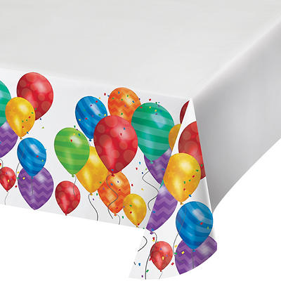 "Artstyle 54"" x 108"" Table Covers, 3 ct. - Balloons"