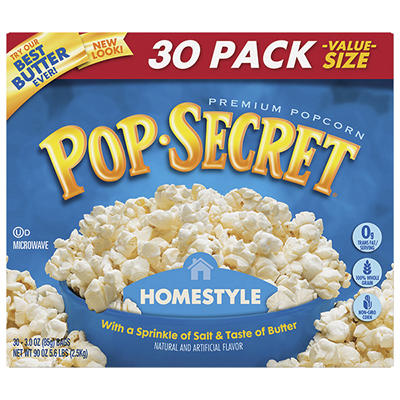 Pop Secret Homestyle Microwave Popcorn, 30 ct.