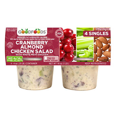 Good Foods Cranberry Almond Chicken Salad, 4 oz., 4 pk.