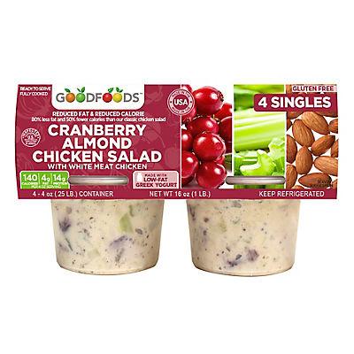 Good Foods Cranberry Almond Chicken Salad, 4 oz., 4 pk.