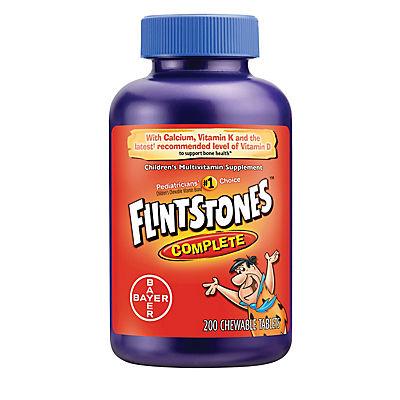 Flintstones Complete Chewable Vitamin Tablets, 200 ct.