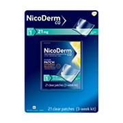 NicoDerm CQ 21mg Step 1 Clear Nicotine Patches, 21 ct.
