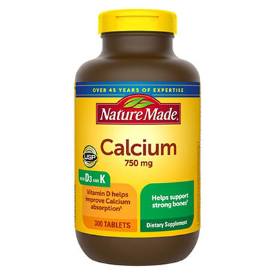 Nature Made 750mg Calcium Tablets, 300 ct.