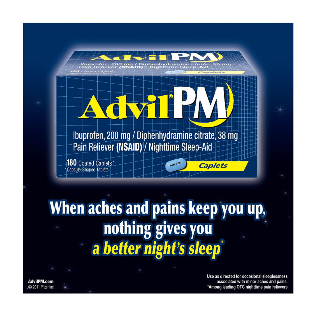 Advil PM Caplets - 180 ct