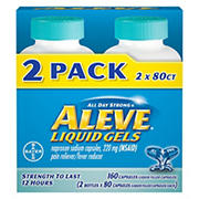 Aleve 220mg Liquid Gel Capsules, 2 pk.