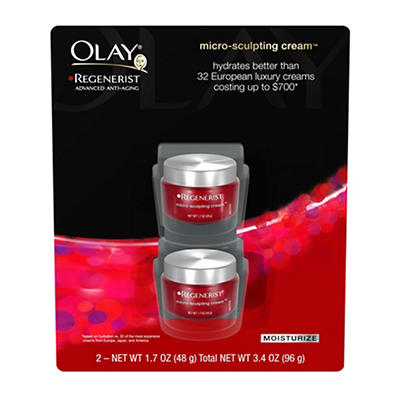 Olay Regenerist Micro-Sculpting Cream, 2 pk./1.7 oz.