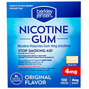Berkley Jensen 4mg Original Nicotine Gum, 2 pk./100 ct.