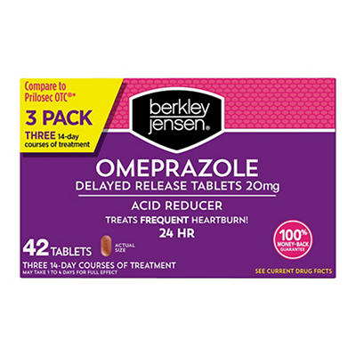 Berkley & Jensen 20mg Omeprazole Acid Reducer Tablets, 42 ct.