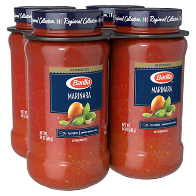 Barilla All-Natural Marinara Sauce, 4 ct./24 oz.