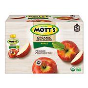Mott's Organic Applesauce Pouches, 24 ct./3.2 oz.