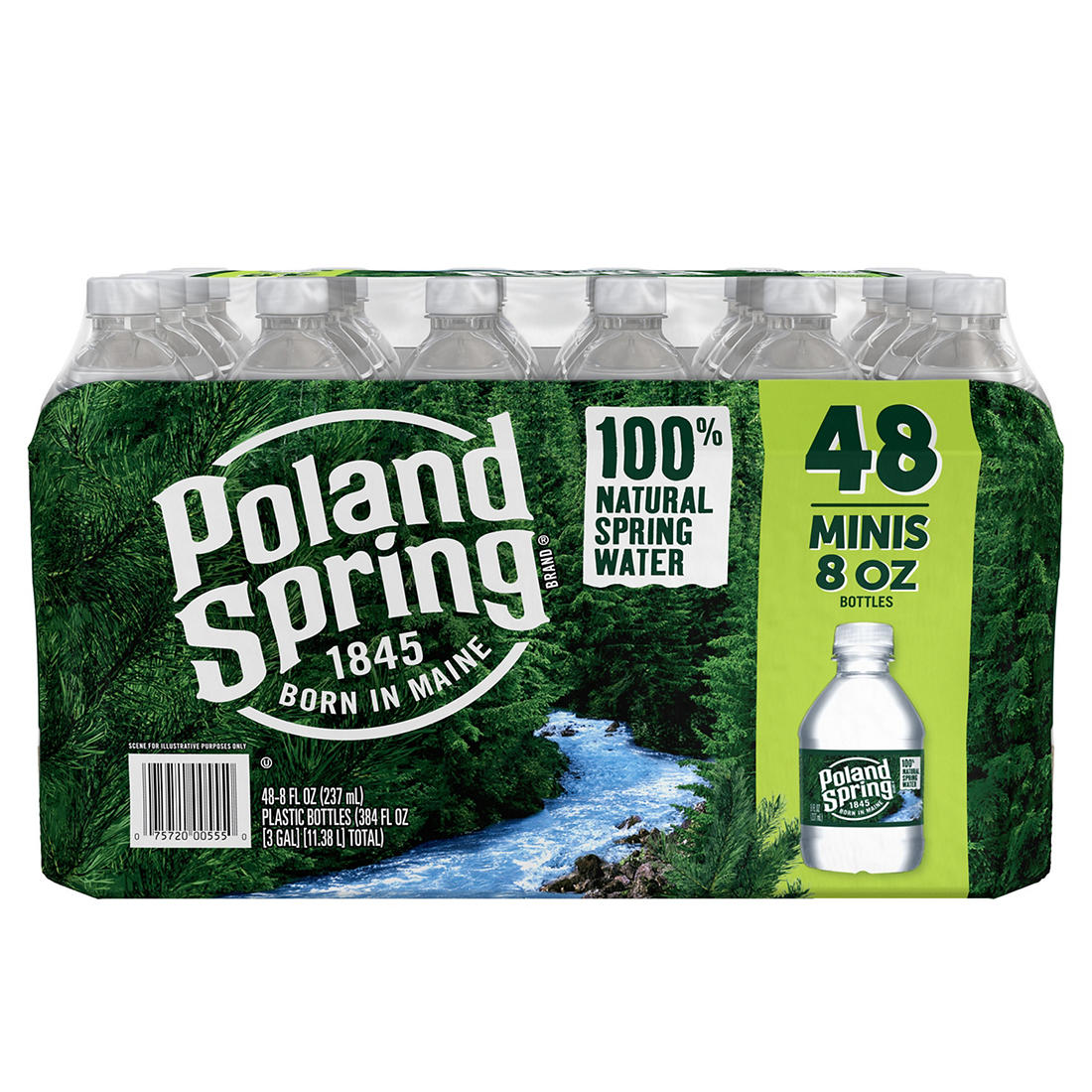 photograph regarding Printable Perk a Cola Labels named Poland Spring 100% Organic Spring H2o, Deposit, 48 pk./8 oz.