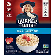 Quaker Oats 100% Natural Whole Grain Quick 1- Minute Oats, 2 pk./40 oz.