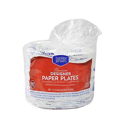"""Berkley Jensen 8.5"""" Paper Plates, 220 ct."""