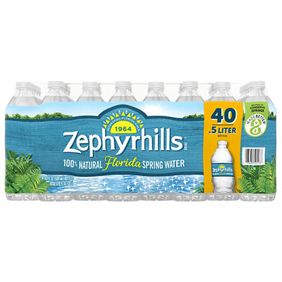 Zephyrhills Natural Spring Water, 40 pk./16.9 oz.