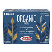 Barilla Organic Penne & Spaghetti Pasta, 6 pk./16 oz.