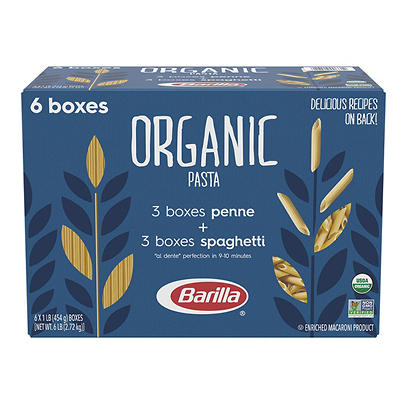 Barilla Organic Pasta, 6 pk./16 oz.