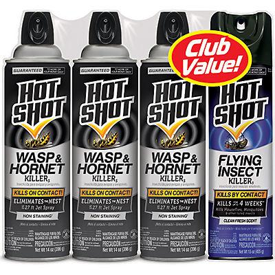 Hot Shot Wasp & Hornet Killer Combo Pack