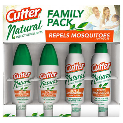 Cutter Natural Insect Repellent, 4 pk.