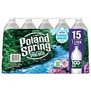 Poland Spring 100% Natural Spring Water, 15 pk./1L