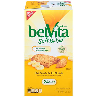 Belvita Soft Baked Banana Bread Breakfast Biscuit, 24 ct.