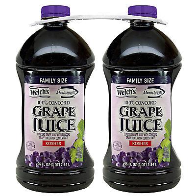 Welch's Manischewitz 100% Concord Grape Juice, 2 pk./ 96 fl. oz.