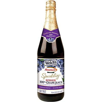 Welch's Manischewitz Sparkling Grape Juice, 25.4 fl. oz.