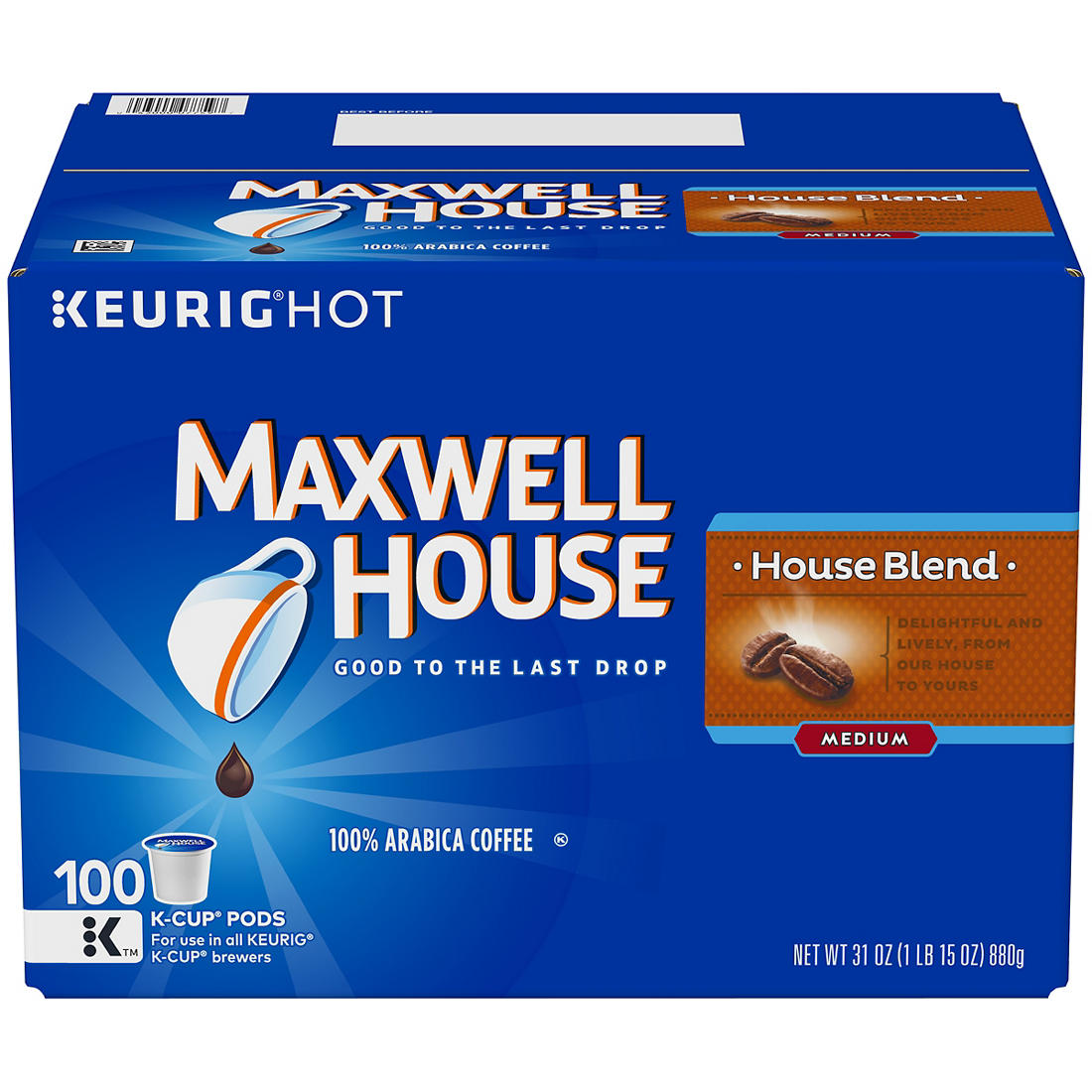 image regarding Maxwell House Coffee Coupons Printable named Maxwell Home Area Mixture K-Cup Packs, 100 ct.