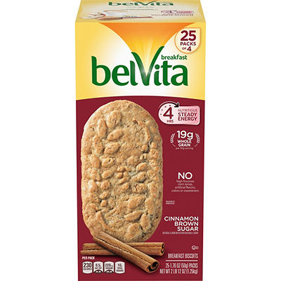 Belivita Cinnamon Brown Sugar Breakfast Biscuits, 25 ct.