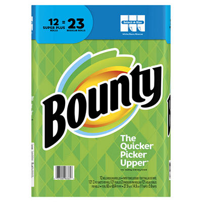 Bounty Select-A-Size Super Plus Roll Paper Towels, 12 pk. - White