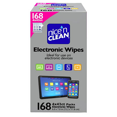 Nice N' Clean Electronics Wipes, 4 pk./42 ct.
